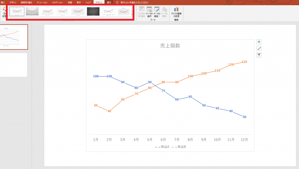 [図で解説]パワーポイントで簡単に「グラフ」を挿入する方法⑩