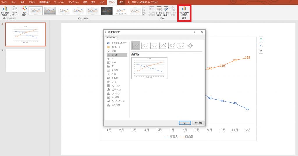 [図で解説]パワーポイントで簡単に「グラフ」を挿入する方法⑪