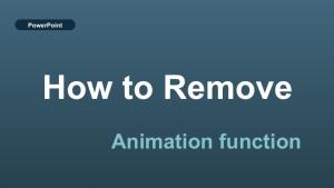 パワーポイントでアニメーションを消す方法【powerpoint】⓪
